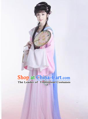 Traditional Ancient Chinese Imperial Consort Yueju Opera Costume, Elegant Hanfu Clothing Chinese Yueju Opera Young Lady Water Sleeves Clothing for Women