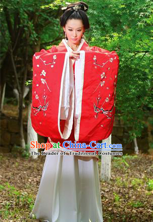 Traditional Ancient Chinese High-Grade Imperial Princess Costume, Chinese Han Dynasty Young Lady Elegant Dress, Chinese Fairy Clothing Plum Blossom Embroidered Hanfu for Women