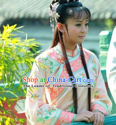 Traditional Ancient Chinese Imperial Consort Costume Xiuhe Suit, Chinese Qing Dynasty Manchu Dress, Cosplay Chinese Mandchous Imperial Princess Clothing for Women