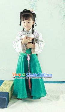 Traditional Ancient Chinese Imperial Princess Children Costume, Chinese Tang Dynasty Little Girls Dress, Cosplay Chinese Princess Hanfu Clothing for Kids