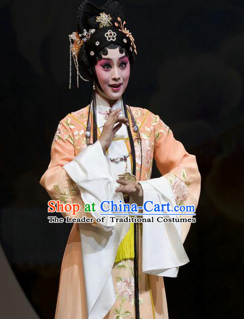 Traditional Ancient Chinese Peking Opera Imperial Princess Costume, Elegant Hanfu Clothing Chinese Tang Dynasty Imperial Empress Embroidered Clothing for Women