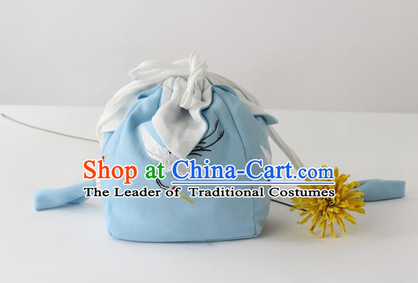 Traditional Ancient Chinese Embroidered Handbags Embroidered Crane Bag for Women