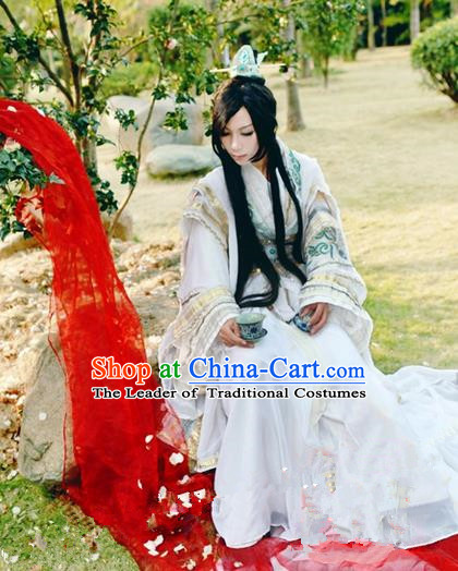 Traditional Asian Chinese Ancient Nobility Childe Costume, Elegant Hanfu Dress, Chinese Imperial Emperor Embroidered Clothing, Chinese Cosplay Prince Costumes for Men