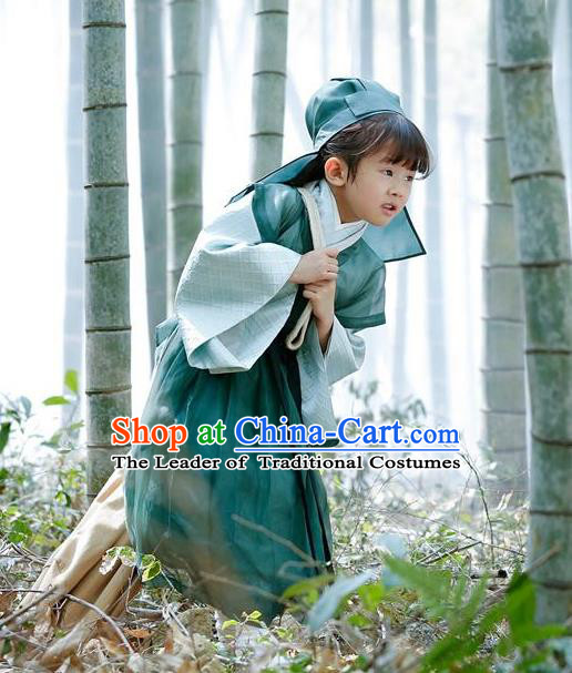 Traditional Ancient Chinese Imperial Prince Children Costume Complete Set, Elegant Teleplay Ten great III of peach blossom Role Hanfu Nobility Childe Robe, Chinese Cosplay Scholar Clothing for Kids