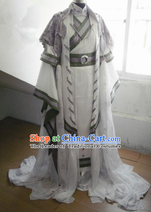 Traditional Ancient Chinese Imperial Emperor Costume, Ancient Swordsman Elegant Hanfu Clothing Chinese Tang Dynasty Imperial King Cosplay Tailing Embroidered Dress for Men