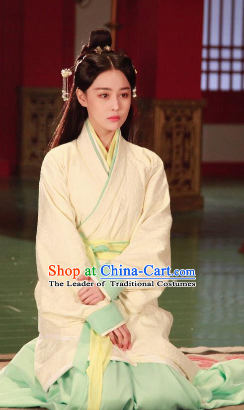 Traditional Ancient Chinese Imperial Empress Costume, Elegant Hanfu Palace Lady Dress Chinese Han Dynasty Imperial Princess Tailing Clothing for Women