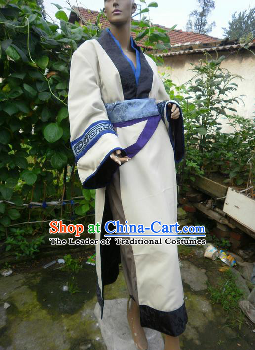 Traditional Ancient Chinese Classical Cartoon Character Uniform Cosplay Game Role Qin Dynasty Swordmen Costume Complete Set for Men