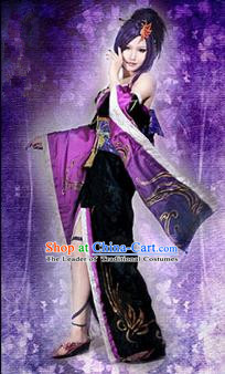Traditional Ancient Chinese Classical Cartoon Character Fairy Uniform Cosplay Game Role Han Dynasty Swordmen Imperial Consort Costume Complete Set for Women