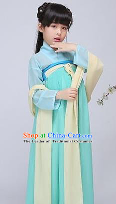 Traditional Ancient Chinese Imperial Emperess Costume, Chinese Chlidren Dance Dress, Cosplay Chinese Peri Imperial Princess Clothing Hanfu for Kids