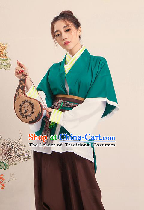 Traditional Ancient Chinese Male Costume, Chinese Han Dynasty Livehand Dress, Cosplay Chinese Swordsman Clothing for Men