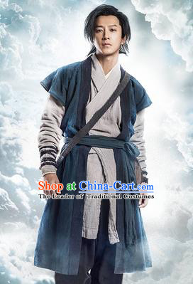 Traditional Ancient Chinese Male Costume, Chinese Han Dynasty Men Dress, Chinese Swordsman Clothing for Men