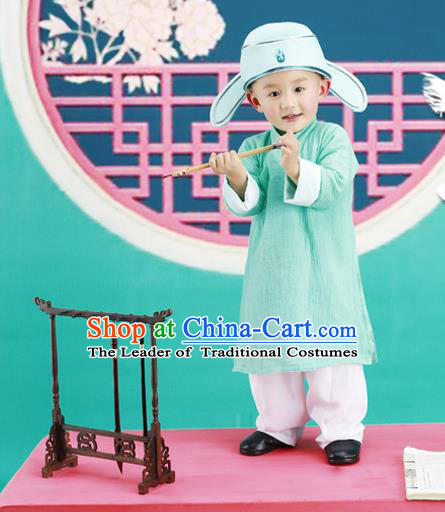 Traditional Ancient Chinese Boys Costume, Chinese Tang Dynasty Children Dress, Cosplay Chinese Student Clothing for Kids