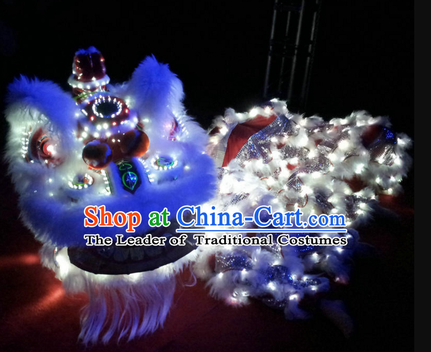 LED Lights Nighttime Parade Lion Dance Costume Complete Set