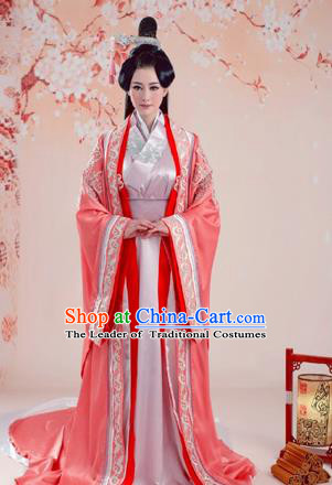 Traditional Ancient Chinese Imperial Emperess Costume, Chinese Han Dynasty Lady Dress, Cosplay Chinese Imperial Princess Embroidered Clothing Hanfu for Women