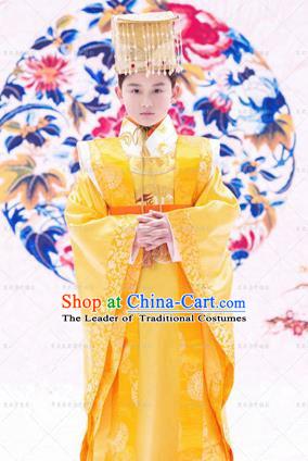 Traditional Ancient Chinese Tang Dynasty Imperial Prince Robes, Imperial Emperor Boys Dragon Costumes for Kids
