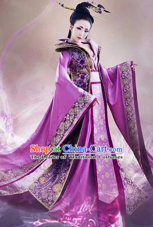 Traditional Ancient Chinese Imperial Emperess Costume, Chinese Tang Dynasty Dance Dress, Cosplay Chinese Peri Imperial Princess Embroidered Clothing for Women