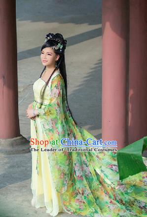 Traditional Ancient Chinese Imperial Emperess Costume, Chinese Tang Dynasty Palace Lady Dress, Cosplay Chinese Princess Printing Ru Skirt Clothing for Women
