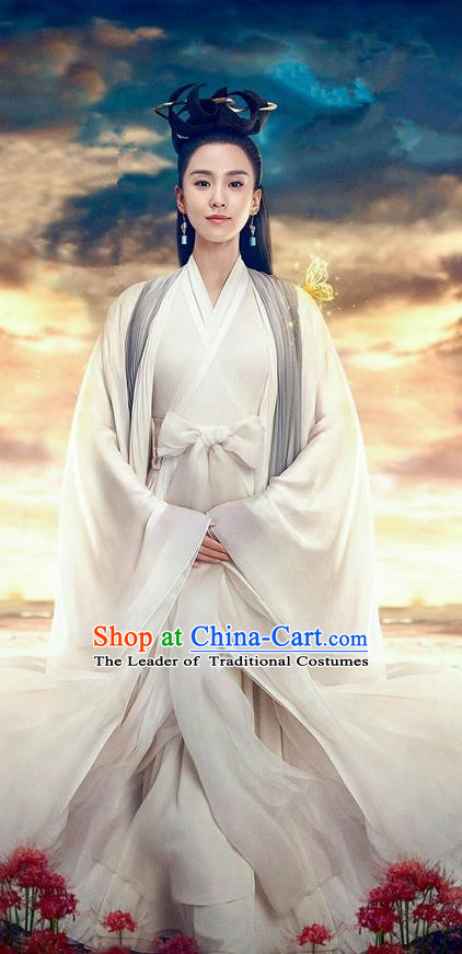 Traditional Ancient Chinese Imperial Consort Costume, Elegant Hanfu Western Wei Dynasty Clothing, Chinese Northern Dynasties Imperial Concubine Embroidered Tailing Clothing for Women