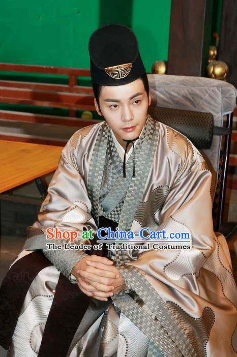 Traditional Ancient Chinese Nobility Childe Costume, Elegant Hanfu Western Wei Dynasty Prince Clothing, Chinese Northern Dynasties Aristocratic Embroidered Clothing for Men
