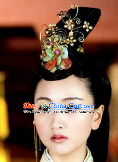 Traditional Handmade Chinese Ancient Classical Hair Accessories, Han Dynasty Barrettes Imperial Empress Phoenix Coronet, Xiuhe Suit Hanfu Hair Sticks Hair Jewellery, Hair Fascinators Hairpins for Women