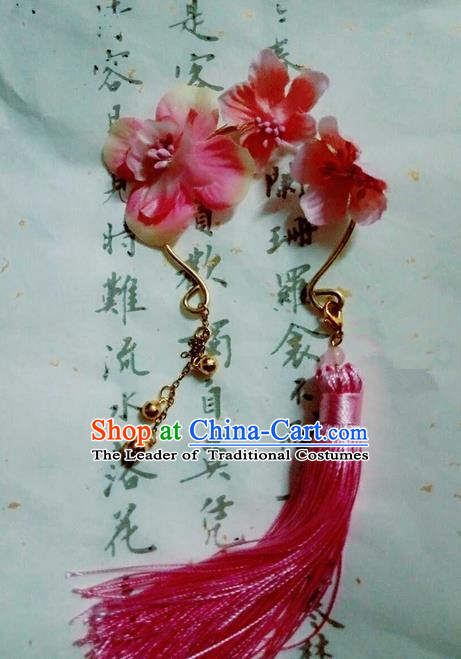 Traditional Handmade Chinese Ancient Classical Accessories Silk Flowers Bangle, Han Dynasty Hanfu Bracelet for Women