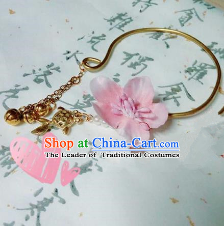 Traditional Handmade Chinese Ancient Classical Accessories Bangle, Han Dynasty Hanfu Bracelet for Women
