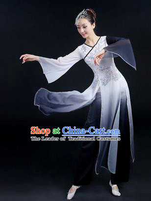 Traditional Chinese Yangge Fan Dancing Costume, Folk Dance Yangko Mandarin Sleeve Paillette Uniforms, Classic Dance Elegant Dress Drum Dance Paillette Clothing for Women