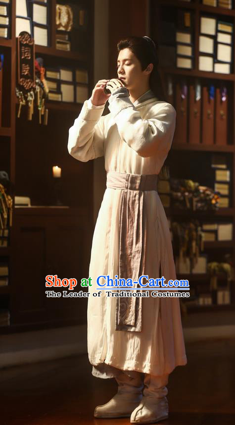 Traditional Ancient Chinese Nobility Childe Costume, Elegant Hanfu Male Lordling Dress, Cosplay China  Swordsman Clothing for Men
