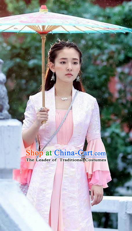 Traditional Ancient Chinese Imperial Princess Costume, Elegant Hanfu Swordsman Clothing, Chinese Tang Dynasty Aristocratic Lady Embroidered Clothing for Women
