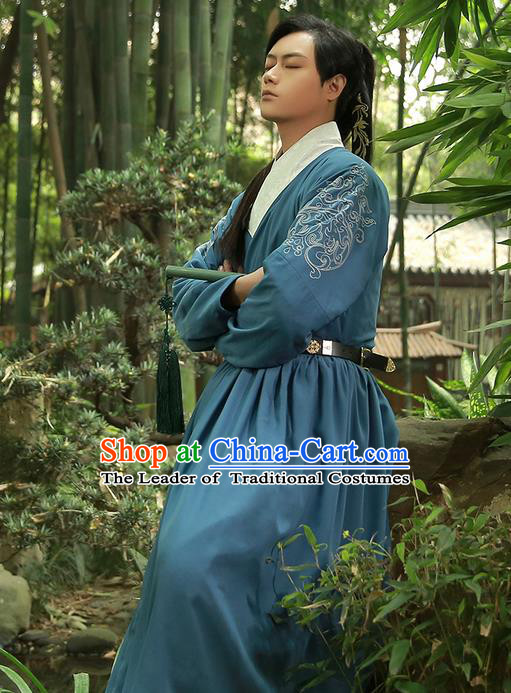 Traditional Chinese Ancient Han Dynasty Jiang Hu Swordsman Flying Fish Suit Secret Service of Ming Dynasty Costume Complete Set for Men