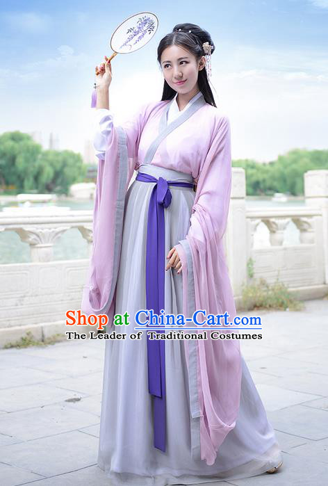 Traditional Ancient Chinese Young Lady Elegant Costume Embroidered Wide Sleeve Cardigan Slant Opening Blouse and Slip Skirt Complete Set, Elegant Hanfu Clothing Chinese Jin Dynasty Imperial Princess Clothing for Women