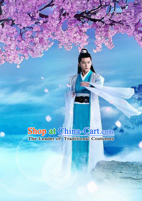 Traditional Ancient Chinese Elegant General Costume, Chinese Ancient Nobility Childe Dress, Cosplay Chinese Television Drama Flying Daggers Chinese Ming Dynasty Prince Hanfu Clothing for Men