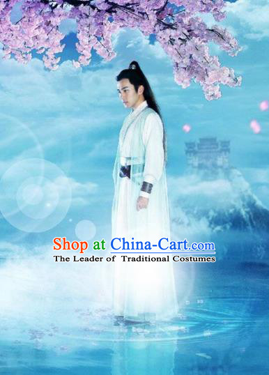 Traditional Ancient Chinese Elegant Swordsman Costume, Chinese Ancient Nobility Childe Dress, Cosplay Chinese Television Drama Flying Daggers Chinese Ming Dynasty Prince Hanfu Clothing for Men