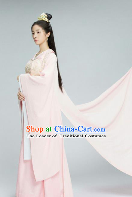 Traditional Chinese Ancient Princess Costume and Handmade Headpiece Complete Set, Chinese Northern and Southern Dynasties Young Lady Suit, Chinese Television Tokgo World Peri Hanfu Clothing for Women
