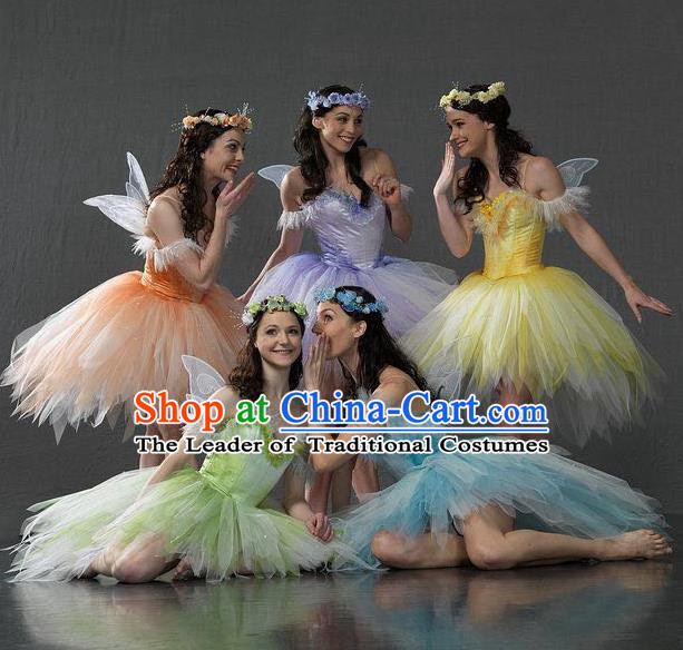 Chinese Classic Stage Performance Ballet Costumes, Opening Dance Baller Dance Dress, Classic Dance Clothing for Women