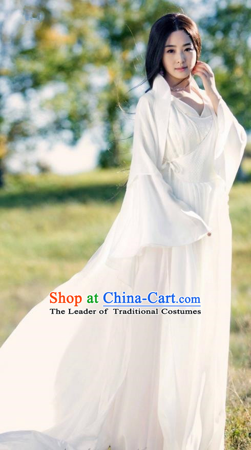 Traditional Ancient Chinese Elegant Costume, Chinese Northern Dynasty Imperial Consort Dress, Cosplay Chinese Television Drama Alegend of Pringess Lanling Princess Consort Hanfu Trailing Embroidery Clothing for Women