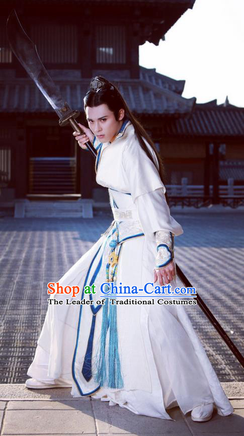 Traditional Ancient Chinese Elegant General Costume, Chinese Nobility Childe Dress, Cosplay Chinese Television Drama Alegend Of Pringess Lanling Swordsman Chinese Northern Dynasty Prince Hanfu Clothing for Men
