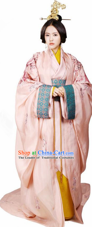 Traditional Ancient Chinese Elegant Aristocratic Female Costume, Chinese Han Dynasty Palace Young Lady Dress, Cosplay Chinese Television Drama Above The Clouds Princess Peri Imperial Empress Hanfu Trailing Embroidery Clothing for Women