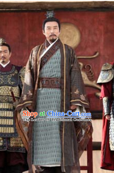 Chinese Ancient Palace Prime Minster Garment Clothes Complete Set for Men