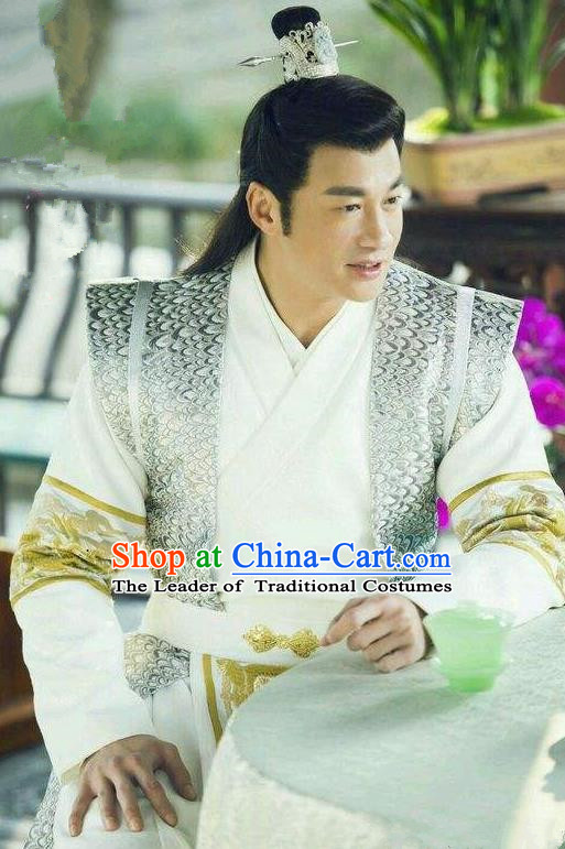 Traditional Chinese Song Dynasty Swordsman Dandies Costume and Handmade Headpiece Complete Set, China Ancient Nobility Childe Clothing for Men