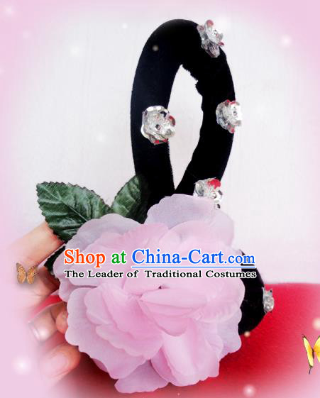 Traditional Chinese Peking Opera Hair Accessories, China Ancient Young Lady Handmade Wigs for Women