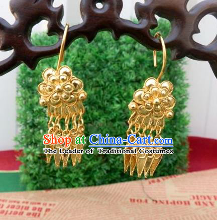 Traditional Handmade Chinese Ancient Classical Jewellery Accessories Earrings, Ming Dynasty Wedding Eardrop for Women