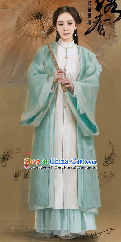 Traditional Ancient Chinese Young Lady Costume, Films Brotherhood of Blades Chinese Ming Dynasty Heroine Hanfu Clothing for Women