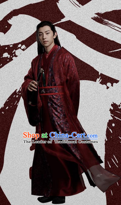 Traditional Ancient Chinese Northern and Southern Dynasties Nobility Childe Wedding Costume, Princess Agents Northern Wei Dynasty Prince Clothing Childe Dress