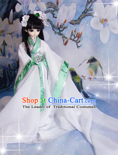 Top Grade Traditional China Ancient Princess Dance Costumes Complete Set, China Ancient Cosplay Dress Clothing for Adults and Kids