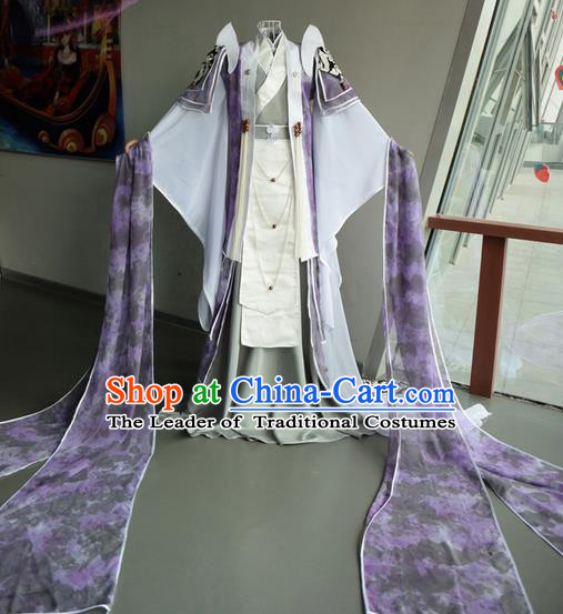 Top Grade Traditional China Ancient Young Prince Costumes, China Ancient Cosplay Swordsman Dress Clothing for Men