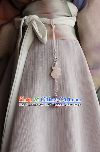 Top Grade Traditional China Ancient Palace Princess Jade Accessories Pendant, China Ancient Swordsman Tassel Waist Pendant