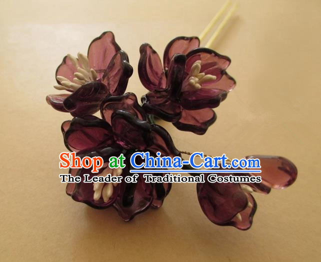 Chinese Ancient Handmade Jewelry Accessories Hairpins, Traditional Chinese Ancient Hanfu Hair Clasp Headwear for Women