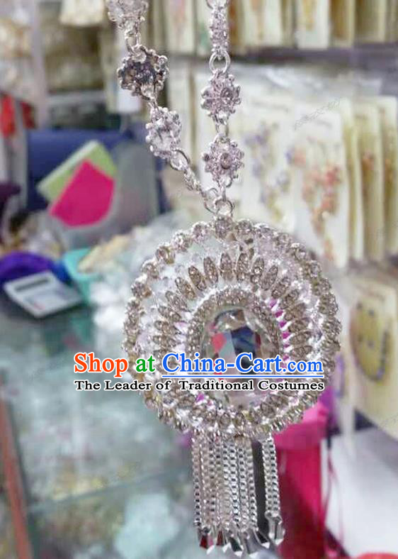 Traditional Thailand Ancient Handmade Jewelry Accessories, Traditional Thai China Dai Nationality Crystal Necklace for Women