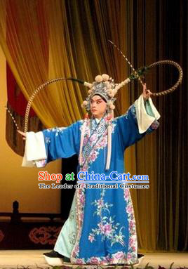 Traditional Chinese Beijing Opera Takefu Clothing, China Peking Opera Martial General Role Costume Embroidered Opera Costumes